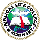 Logo for Biblical Life College and Seminary